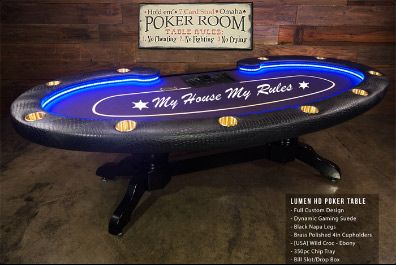 """96"""" Holdem Table With Raceway"""